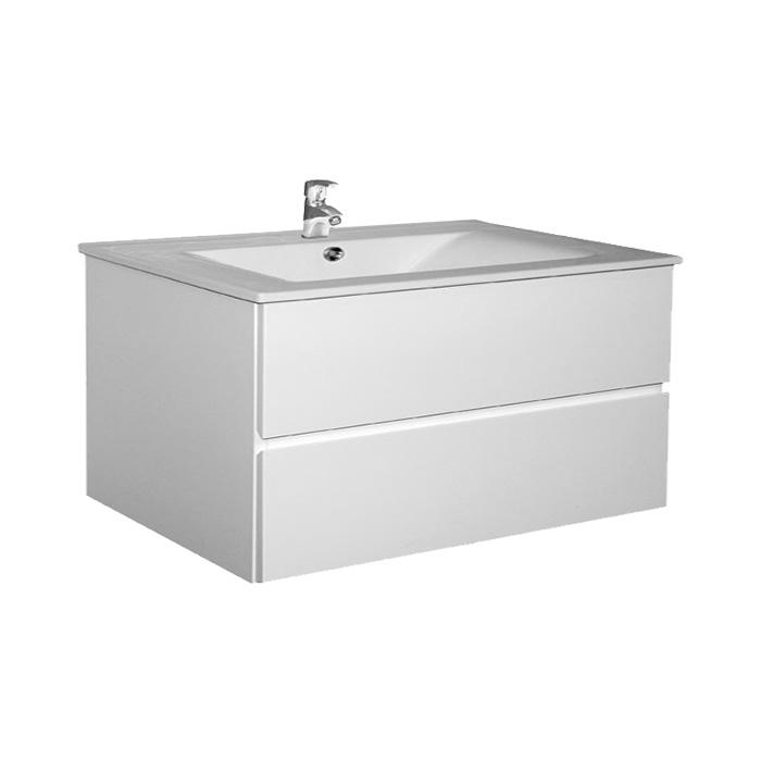 Brunette 100 (Koupelnová skříňka závěsná zásuvková s keramickým umyvadlem Brunette 100)