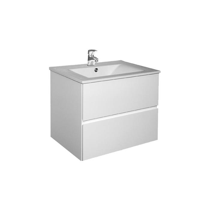 Brunette 60 (Koupelnová skříňka závěsná zásuvková s keramickým umyvadlem Brunette 60)