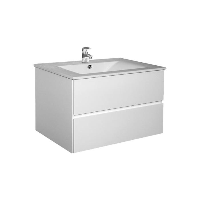 Brunette 75 (Koupelnová skříňka závěsná zásuvková s keramickým umyvadlem Brunette 75)