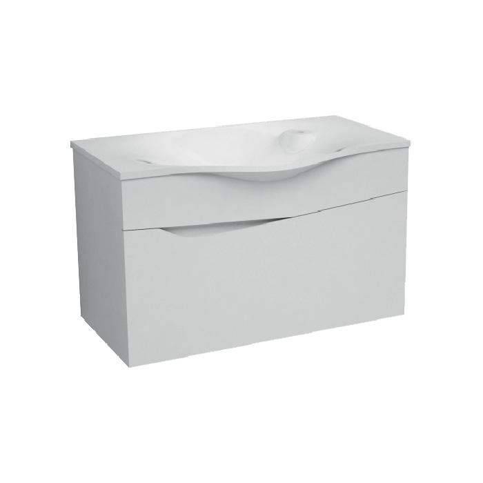 Delta 80 (Koupelnová skříňka závěsná, zásuvková s umyvadlem z litého mramoru Delta 80)