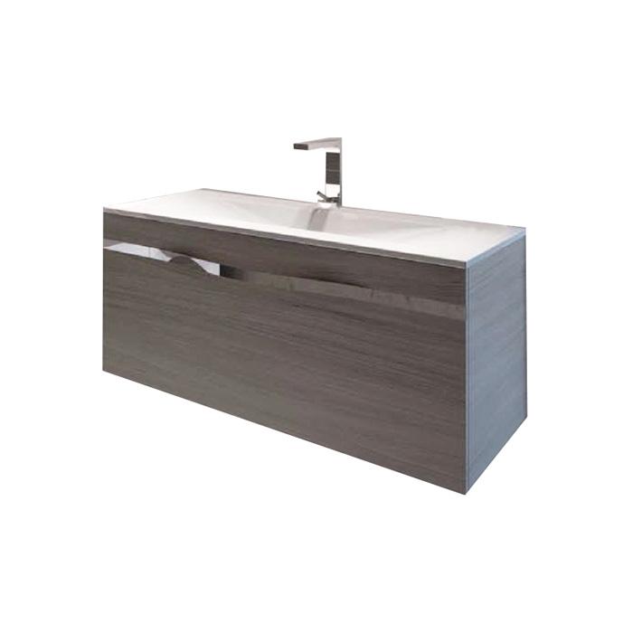 Diana 100-2 (Koupelnová skříňka závěsná se 2 zásuvkami a keramickým umyvadlem Diana 100-2)