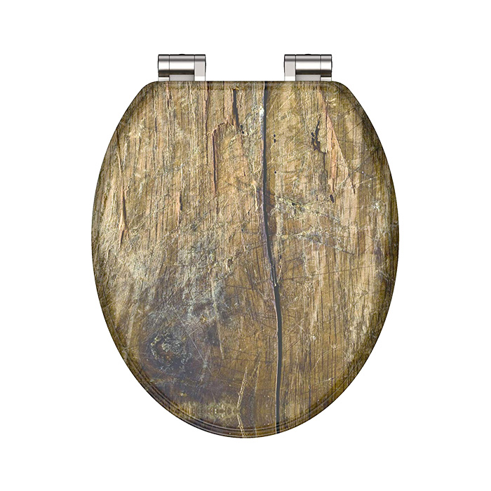 WC prkénko MDF Soft Close Solid Wood 80124   Eisl