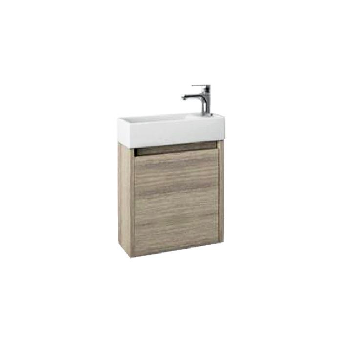 Faro 40 Oak P/L (Koupelnová skříňka závěsná s keramickým umyvadlem Faro 40 Oak P/L)