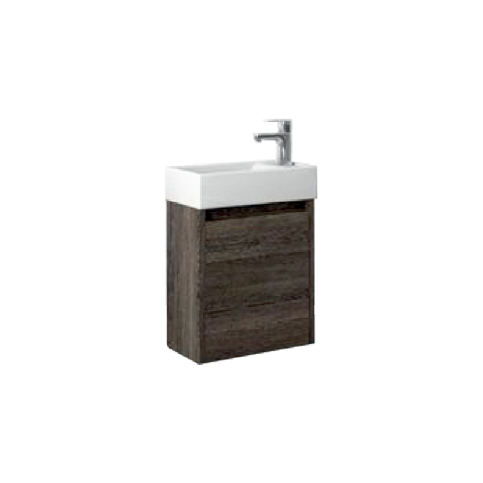 Faro 40 Wenge P/L (Koupelnová skříňka závěsná s keramickým umyvadlem Faro 40 Wenge P/L)