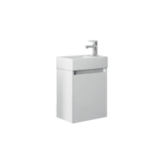 Faro 40 White P/L (Koupelnová skříňka závěsná s keramickým umyvadlem Faro 40 White P/L)