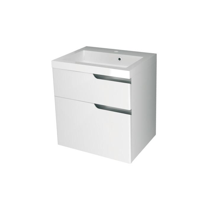 Ivana 60 - DO VYPRODÁNÍ ZÁSOB (Koupelnová skříňka závěsná, zásuvková s keramickým umyvadlem Ivana 60)