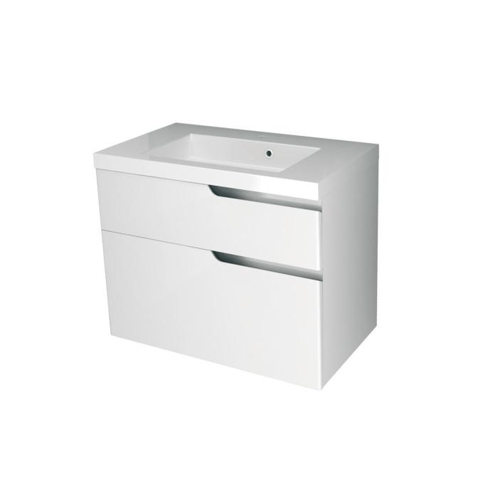 Ivana 80 - DO VYPRODÁNÍ ZÁSOB (Koupelnová skříňka závěsná, zásuvková s keramickým umyvadlem Ivana 80)