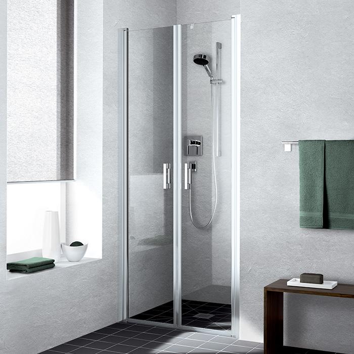 Liga LI PTD 08020 VPK (Částečně rámové dvoukřídlé sprchové dveře otevíravé dovnitř i ven LI PTD 08020 VPK)