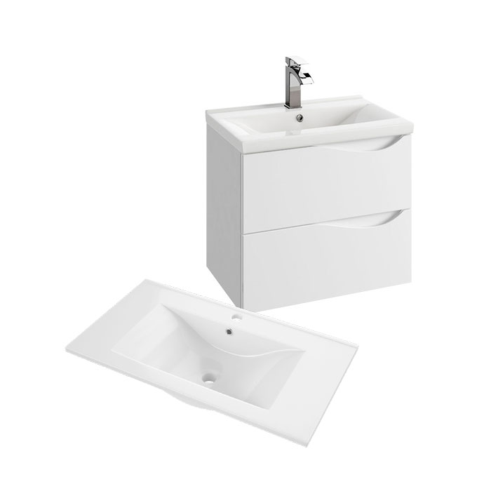 Murcia 60 (Koupelnová skříňka závěsná zásuvková s keramickým umyvadlem Murcia 60)