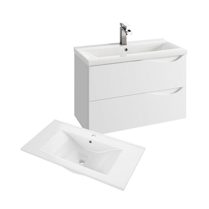 Murcia 75 (Koupelnová skříňka závěsná zásuvková s keramickým umyvadlem Murcia 75)