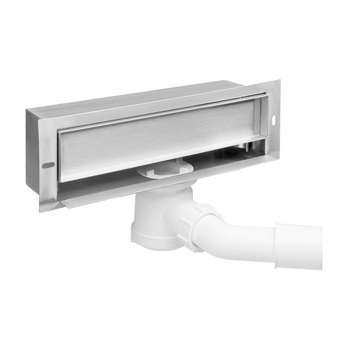 OZ B003A (Boční (stěnový) odtokový žlab s nerezovým rámečkem pro dokončení dlažbou OZ B003A)