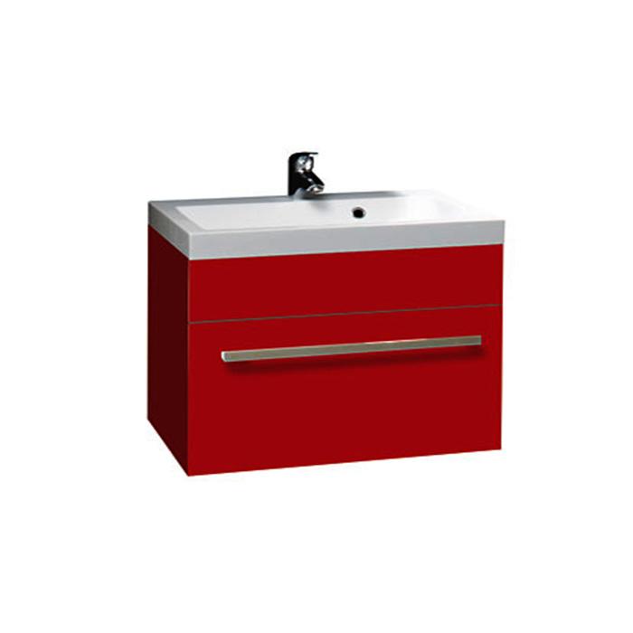 Plaza R 80 O - DO VYPRODÁNÍ ZÁSOB (Koupelnová skříňka závěsná zásuvková s umyvadlem z litého mramoru Plaza R 80)