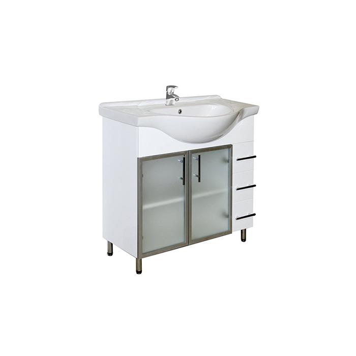 Sáva 85 - DO VYPRODÁNÍ ZÁSOB (Koupelnová skříňka s keramickým umyvadlem Sáva 85)