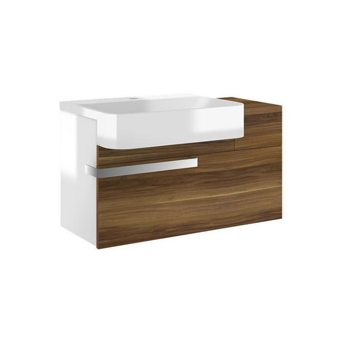 Simon 77 L - DO VYPRODÁNÍ ZÁSOB (Koupelnová skříňka závěsná zásuvková s umyvadlem z litého mramoru Simon 77 L)