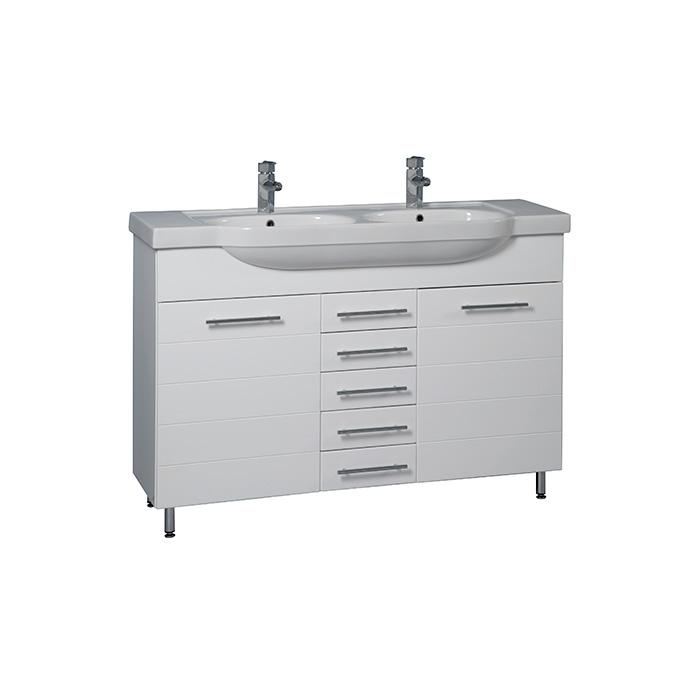 Stripe 130 CN - DO VYPRODÁNÍ ZÁSOB (Koupelnová skříňka s dvojumyvadlem z litého mramoru Stripe 130 CN)