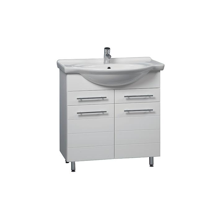 Stripe 85 - DO VYPRODÁNÍ ZÁSOB (Koupelnová skříňka s keramickým umyvadlem Stripe 85)
