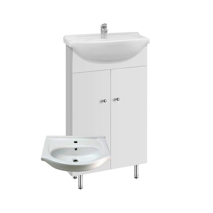 Vilma 50 ZV - DO VYPRODÁNÍ ZÁSOB (Koupelnová skříňka s keramickým umyvadlem Vilma 50 ZV)