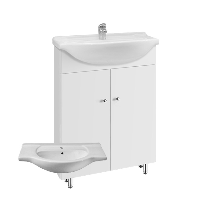 Vilma 65 ZV - DO VYPRODÁNÍ ZÁSOB (Koupelnová skříňka s keramickým umyvadlem Vilma 65 ZV)