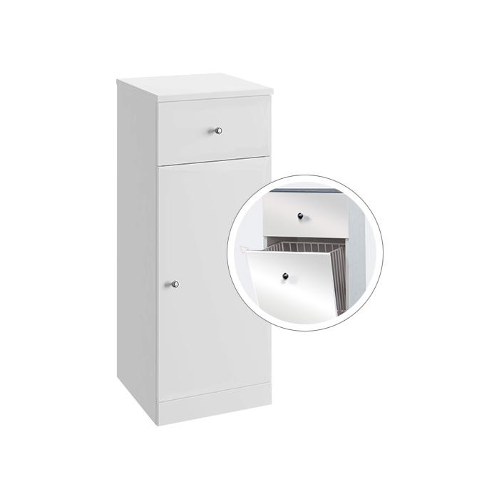 Vilma NK 32 (Koupelnová doplňková skříňka nízká s výklopným košem Vilma NK 32)