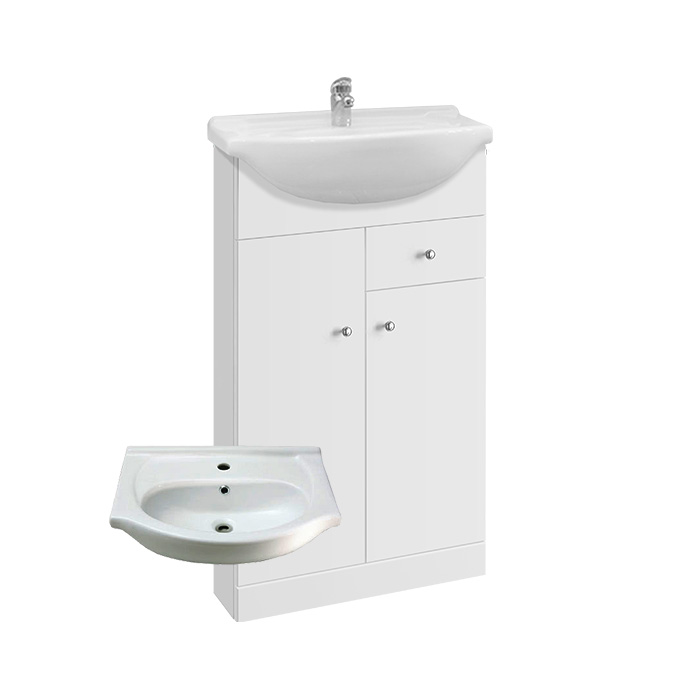 Vilma S 50 - DO VYPRODÁNÍ ZÁSOB (Koupelnová skříňka s keramickým umyvadlem Vilma S 50)