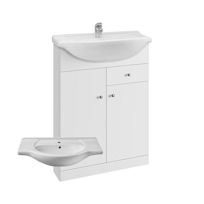 Vilma S 65 - DO VYPRODÁNÍ ZÁSOB (Koupelnová skříňka s keramickým umyvadlem Vilma S 65)