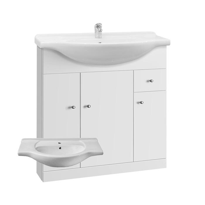 Vilma S 75 - DO VYPRODÁNÍ ZÁSOB (Koupelnová skříňka s keramickým umyvadlem Vilma S 75)