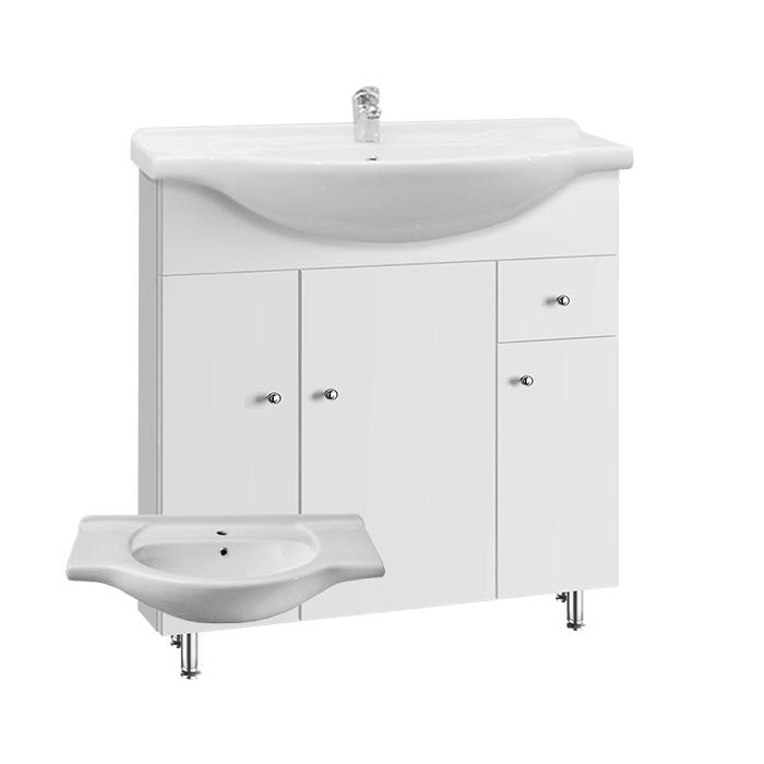 Vilma S 75 ZV (Koupelnová skříňka s keramickým umyvadlem Vilma S 75 ZV)